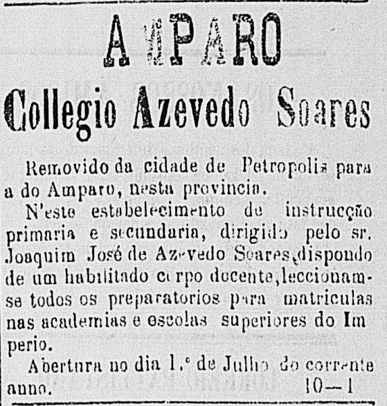 Anúncio do jornal Correio Paulistano, em outubro de 1881