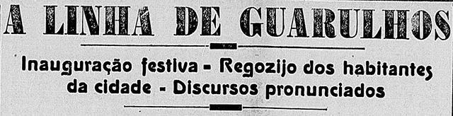 Nota de inauguração no jornal Correio Paulistano