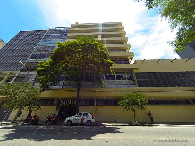 Sede da Folha de S.Paulo na Alameda Barão de Limeira (clique para ampliar).