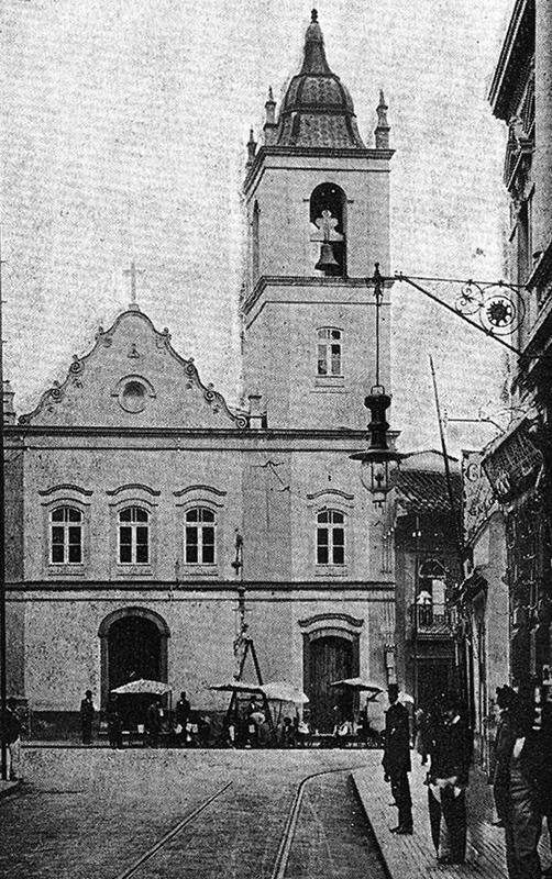 A antiga Igreja do Rosário, onde hoje está o Edifício Altino Arantes