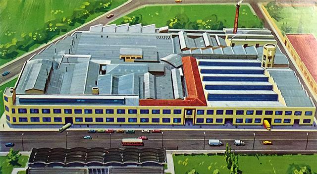 Na ilustração, a fábrica no bairro do Pari (clique para ampliar)