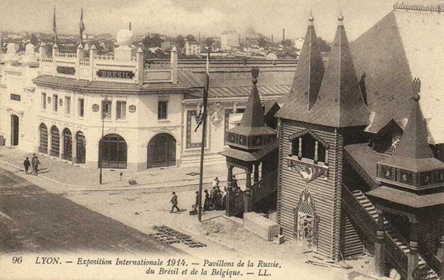 Rara fotografia do pavilhão brasileiro em Lion (clique para ampliar)