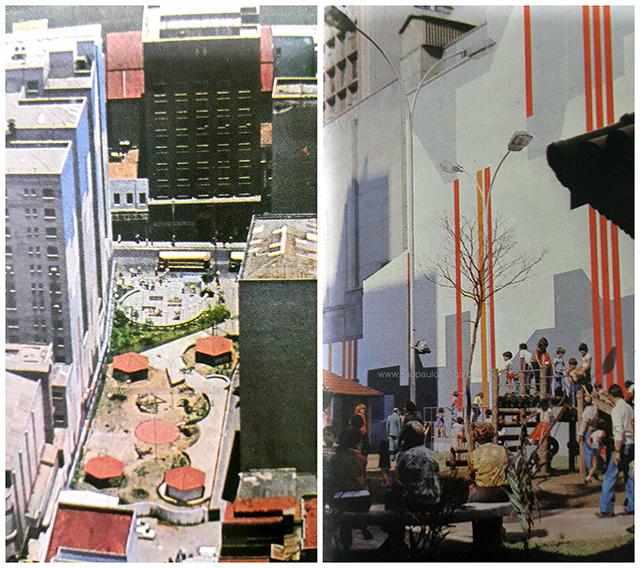 Na foto o Recanto Monteiro Lobato visto por dois ângulos distintos (clique para ampliar)