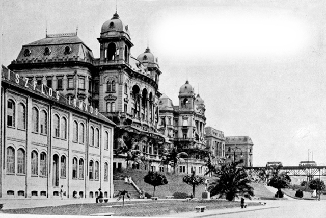 Vista do Vale do Anhangabau e Palacete Prates nos anos 1920