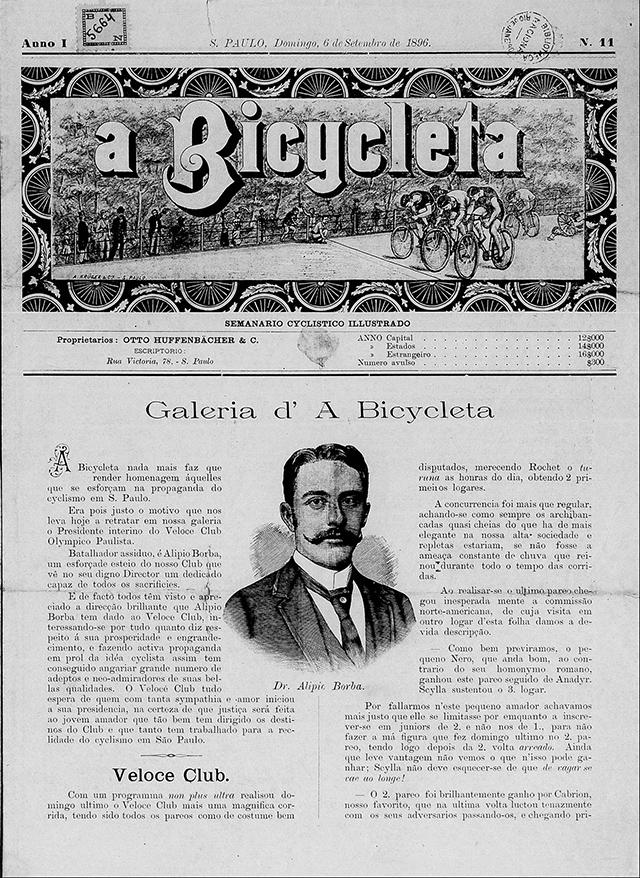 """""""A Bicycleta"""" semanário editado na capital paulista a partir de 1896"""