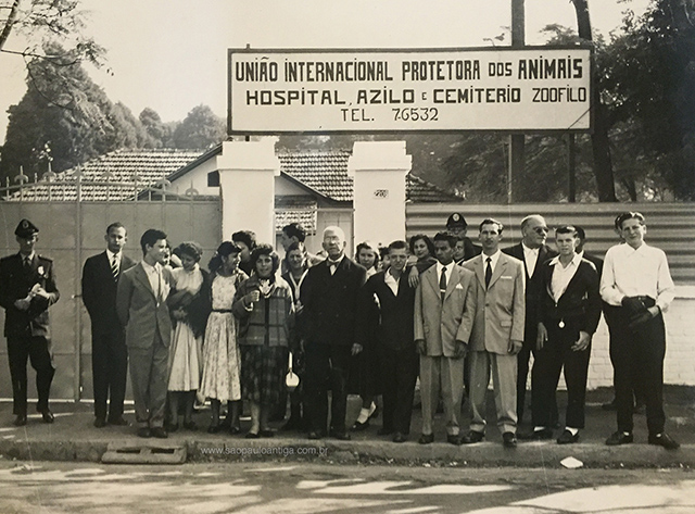 Entrada da UIPA no Ibirapuera na década de 50 (clique na foto para ampliar)