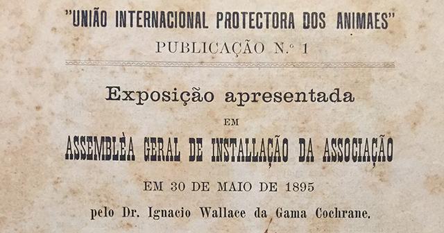 Documento da 1a Assembleia Geral, em 1895 (clique para ampliar)
