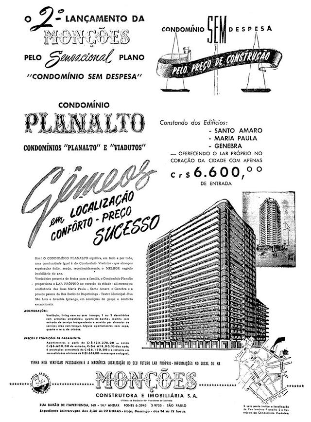 Anúncio na imprensa paulistana em 17/12/1950