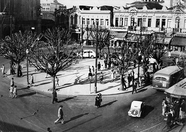 Largo de São Bento, final dos anos 1940