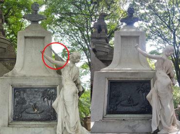 Com furtos fora de controle, figuras históricas do Cemitério da Consolação caminham para o esquecimento