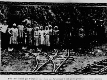 Mulheres operárias na ferrovia Sorocabana em 1929