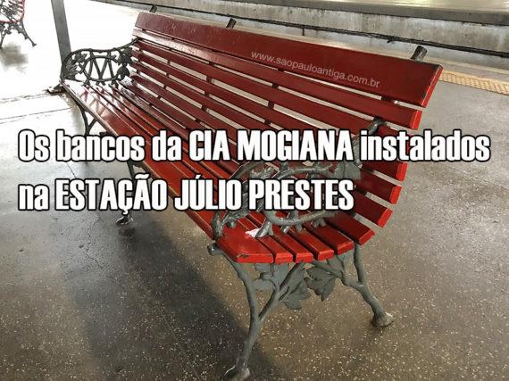 O banco da Cia Mogiana da Estação Júlio Prestes