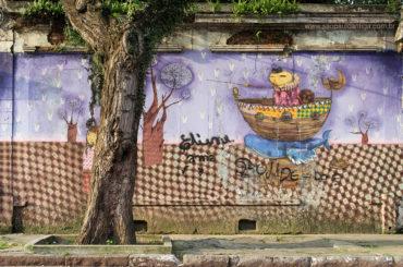 Mural de OSGEMEOS na Rua Cesário Ramalho