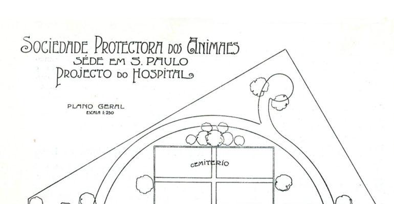 As plantas do primeiro hospital veterinário de São Paulo